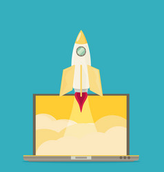 Business start up concept template minimal flat vector