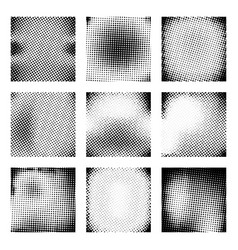 set of halftone texture vector image vector image