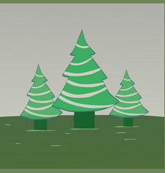 Three pine trees vector