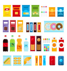 vending machine product items set flat vector image vector image