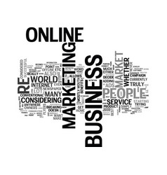 why should i market my business online text word vector image vector image