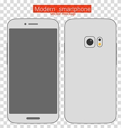 Abstract style modern smartphone mockup vector image vector image