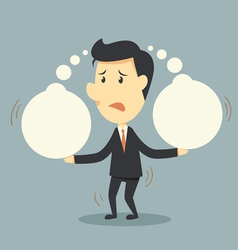 businessman and think bubble vector image vector image