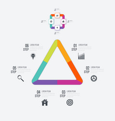 Infographics template 3 options vector
