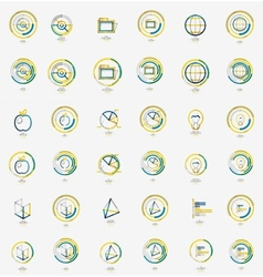 Minimal thin line design web icon set stamps vector image vector image