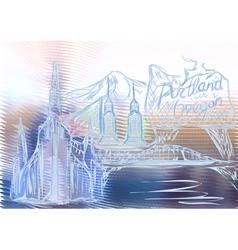 portland oregon vector image