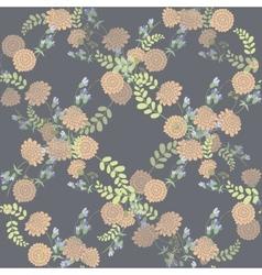 Seamless vintage pink flower pattern vector image