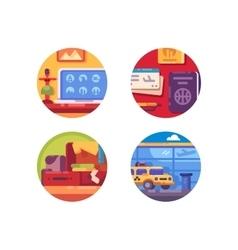 Travel concept icon set vector image