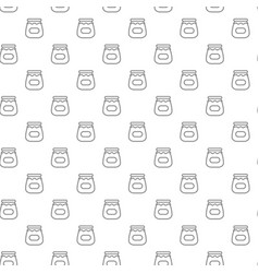 unique digital jars with honey seamless pattern vector image vector image