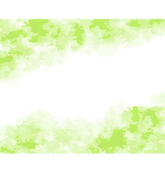 abstract green watercolor background vector image