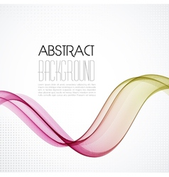 Abstract smoky waves background Template brochure vector image