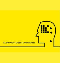 Alzheimer s disease awareness vector