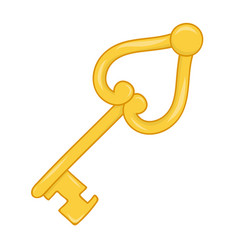 antique golden key isolated vector image