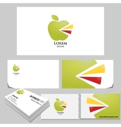 Apple Logo realistic branding mock up vector
