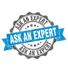 Ask an expert stamp sign seal vector