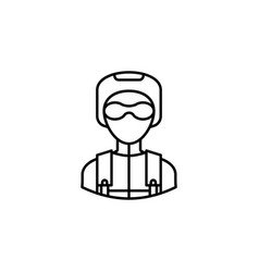 avatar skydiver outline icon signs and symbols vector image