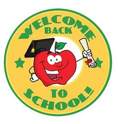 Back to school cartoon logo vector image