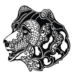 bear head vector image
