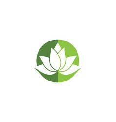 Beauty flowers design logo vector