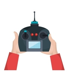 cartoon hands with control drone isolated vector image