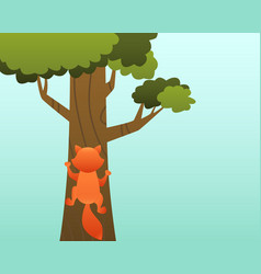 cat on the tree vector image