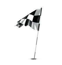 Checkered golf flag vector image