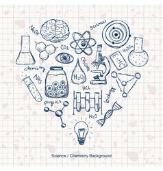 Chemistry Science Background vector image