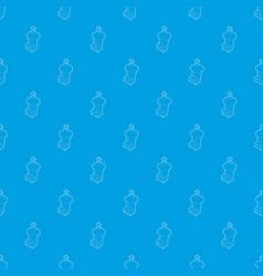 church pattern seamless blue vector image