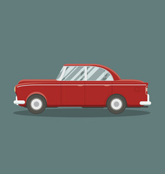 classic red car vector image