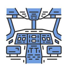 Cockpit color icon vector