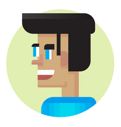 cool avatar young guy friendly smiling modern vector image