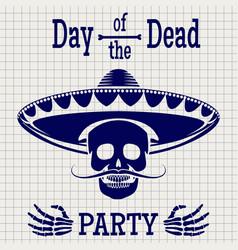 day dead sketch poster design vector image