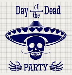 Day of dead sketch poster design vector
