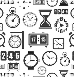 Different slyles of clock seamless background vector