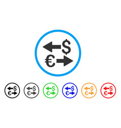 euro dollar transactions rounded icon vector image
