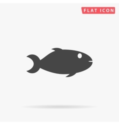 fish simple flat icon vector image