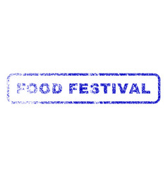 Food festival rubber stamp vector