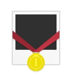 Frame with gold medal vector image