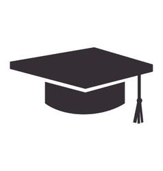 Graduation student cap vector