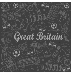 Great Britain line art design vector