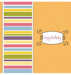 greeting card template design vector image