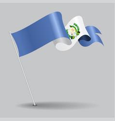 guatemalan pin wavy flag vector image
