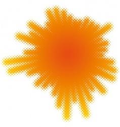 halftone splatter vector image