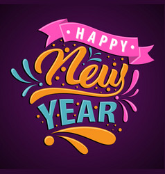 happy new year candy style for greeting card vector image