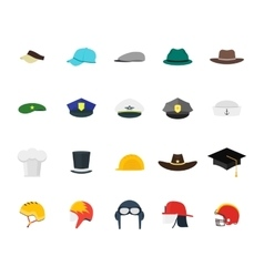 Hats Set Fashion for Men vector