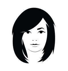 head of a beautiful girl face of a young vector image