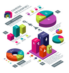 Isometric 3d business infographic with vector