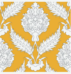 Iznik tile pattern with floral ornaments vector