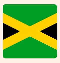 Jamaica square flag button social media vector