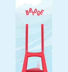 Large night bridge vector